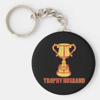Marido del trofeo, divertido+para hombre+regalos llavero redondo tipo pin