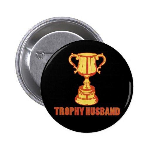 Marido del trofeo, divertido+para hombre+regalos pin redondo 5 cm