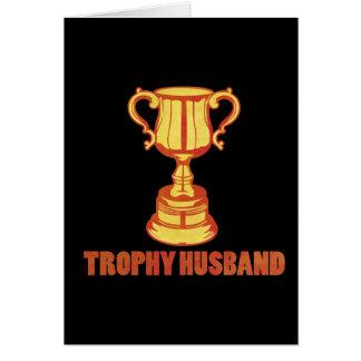 Marido del trofeo, divertido+para hombre+regalos tarjeta de felicitación