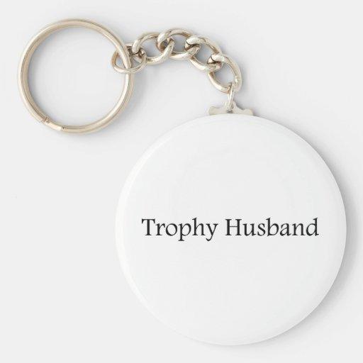 Marido del trofeo llavero redondo tipo pin