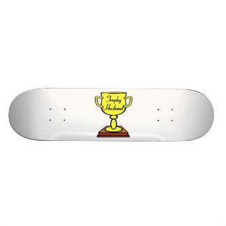 Marido del trofeo patineta personalizada