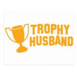 marido del trofeo tarjeta postal