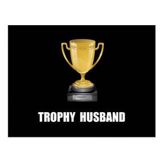 Marido del trofeo tarjetas postales