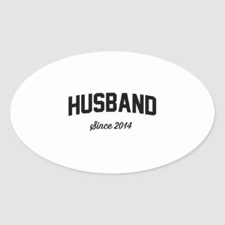 Marido desde 2014 pegatina ovalada