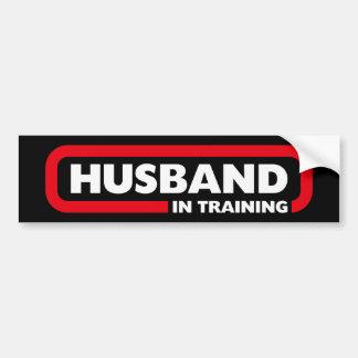Marido en el entrenamiento pegatina para auto