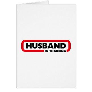 Marido en el entrenamiento tarjetas
