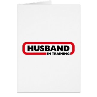 Marido en el entrenamiento tarjeta de felicitación