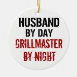 Marido Grillmaster Ornamento Para Arbol De Navidad