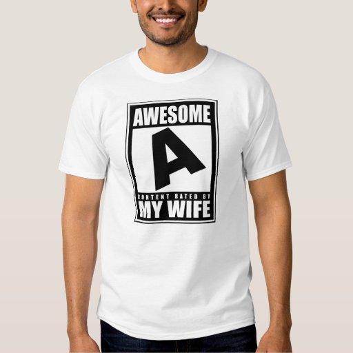Marido impresionante playeras