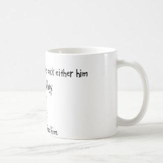 Marido o cosmetología de la selección taza de café