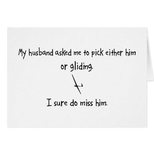 Marido o deslizamiento de la selección felicitacion