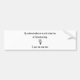 Marido o difusión de la selección etiqueta de parachoque