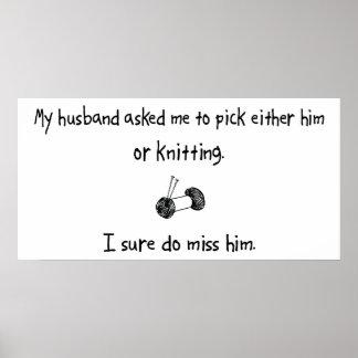 Marido o el hacer punto de la selección póster