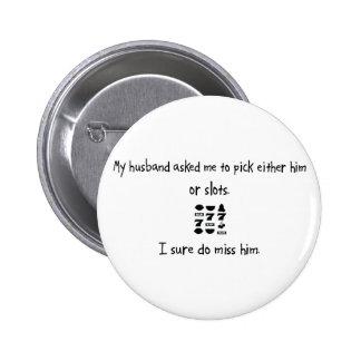 Marido o ranuras de la selección pin redondo 5 cm