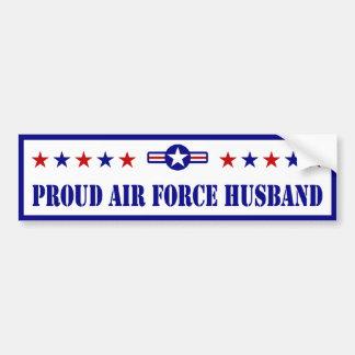 Marido orgulloso de la fuerza aérea pegatina para auto