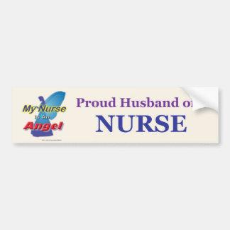 Marido orgulloso de un Nurse2 Pegatina Para Auto
