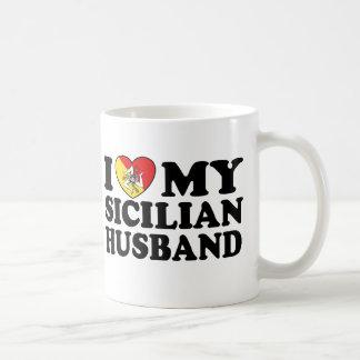 Marido siciliano tazas de café