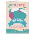 Marido, tarjeta de felicitación de la tarjeta del