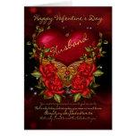Marido, tarjeta del el día de San Valentín con el
