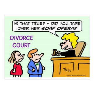 Marido toped sobre la ópera del jabón de la esposa postal
