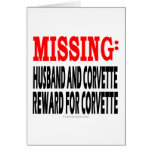 Marido y Corvette que falta: Recompensa por Corvet Tarjetón