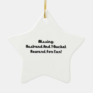Marido y recompensa que falta de Tbucket por coche Adorno Navideño De Cerámica En Forma De Estrella