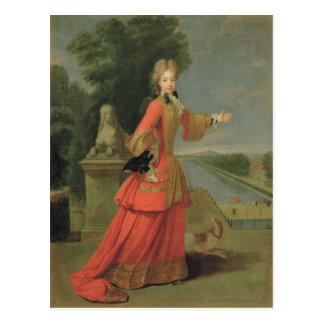 Marie-Adelaide de Saboya en vestido de la caza Postal