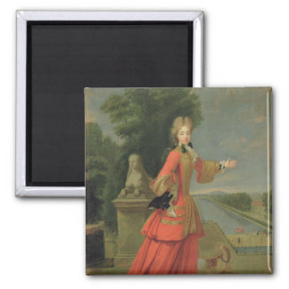 Marie-Adelaide de Savoie  in Hunting Dress 2 Inch Square Magnet