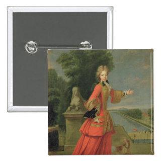 Marie-Adelaide de Savoie  in Hunting Dress Pinback Button