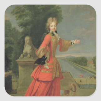 Marie-Adelaide de Savoie  in Hunting Dress Square Sticker