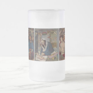 Marie altar frosted glass beer mug