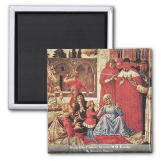 Marie Altar Predella: Miracle Of St. Dominic 2 Inch Square Magnet