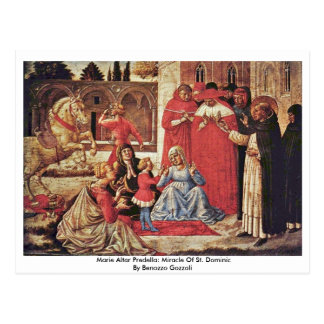 Marie Altar Predella: Miracle Of St. Dominic Post Cards
