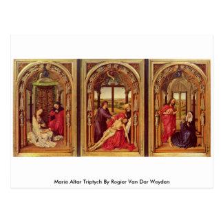 Marie Altar Triptych By Rogier Van Der Weyden Postcards