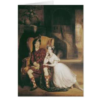 Marie and Paul Taglioni the ballet 'La Sylphide' Card
