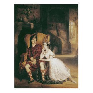 Marie and Paul Taglioni the ballet 'La Sylphide' Postcard