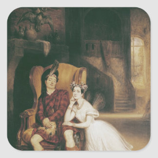 Marie and Paul Taglioni the ballet 'La Sylphide' Square Sticker