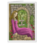 Marie and the secret Garden greetings card