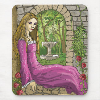 Marie and the secret garden mouse pad