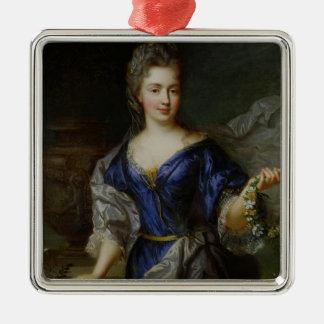 Marie-Anne de Borbón Princesa de Conti Adorno Navideño Cuadrado De Metal