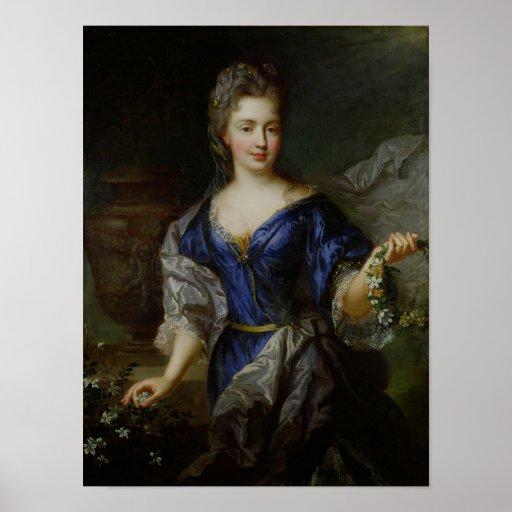 Marie-Anne de Bourbon  Princess of Conti Print