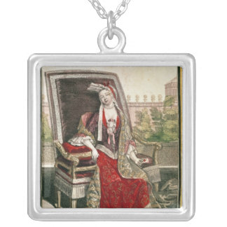 Marie-Anne Mancini  Duchess of Bouillon Square Pendant Necklace