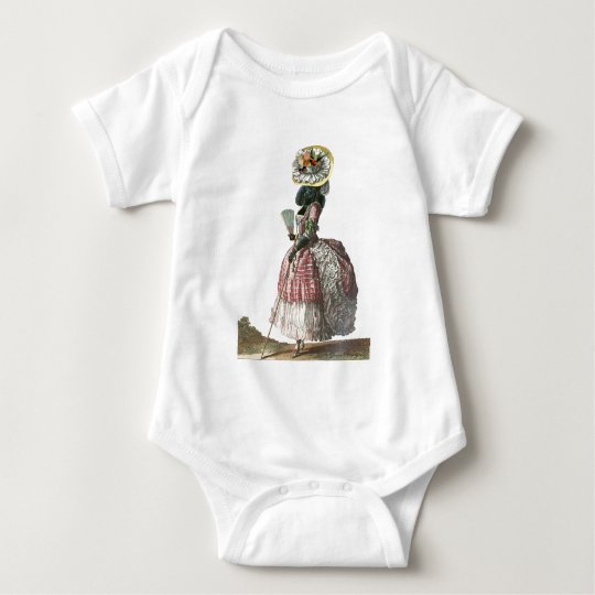 Marie Antionette Black Poodle 18th Century Costume Baby Bodysuit