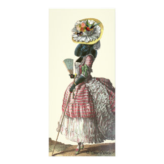 Marie Antionette Black Poodle 18th Century Costume Rack Card