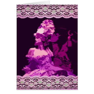 Marie Antionette -purple Card