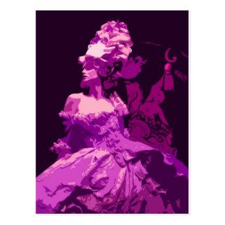 Marie Antionette -purple Postcard