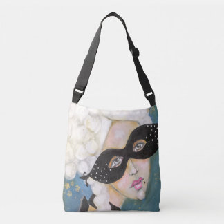 Marie Antionette Queen French Mask Night Sky Fun Crossbody Bag