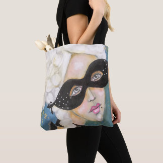 Marie Antionette Queen French Mask Night Sky Fun Tote Bag