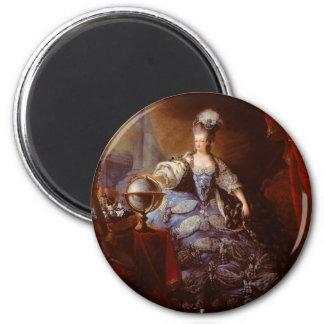 Marie Antoinett de Austria de Jean Baptiste Dagoty Imán Redondo 5 Cm