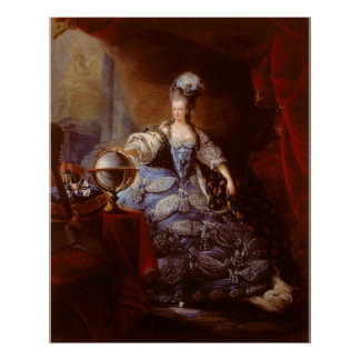 Marie Antoinett de Austria de Jean Baptiste Dagoty Poster